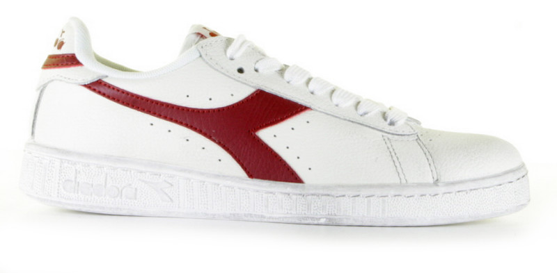 Diadora Heritage Game L Low Waxed Wit/Rood