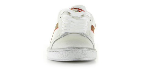 Sneakers - Diadora Heritage - Game L Low Waxed 501.160821 White/Red Pepper Damessneakers