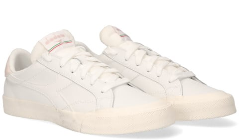 Sneakers - Diadora Sport - Melody Leather Dirty Wit/Roze Damessneakers