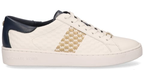 Sneakers - Michael Kors - Colby Striped Logo Embossed Wit Damessneakers
