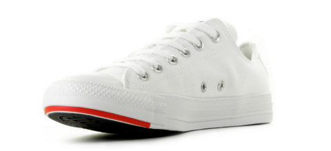 Sneakers - Converse - Stacked Logo CT AS Low Top White/University Red/Black Damessneakers