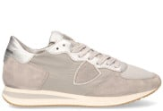 Philippe Model - Tropez X Mondial Grijs Zilver Herensneakers - Dames - Taupe Brons