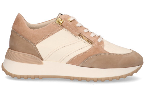 Sneakers - DLSport - 5047 Off-White/Taupe Damessneakers