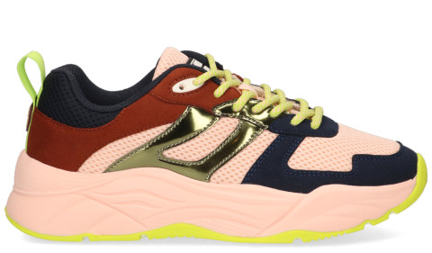 Sneakers - Scotch And Soda - Celest Blauw/Multicolor Damessneakers