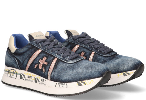 Sneakers - Premiata - Conny 4649 Blauw Damessneakers