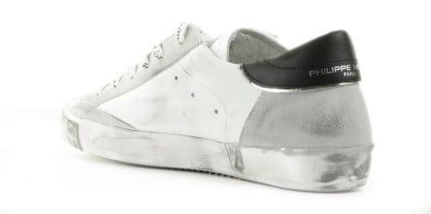 Sneakers - Philippe Model - Prsx Foxy Laminé Wit/Zilver Damessneakers