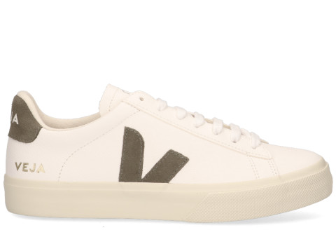 Sneakers - VEJA - Campo Chromefree Leather Wit/Khaki Damessneakers