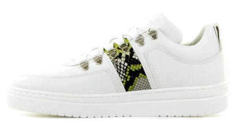 Sneakers - Nubikk - Yeye Block Python Wit Damessneakers