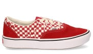 Vans - Tear Check ComfyCush Era Racing Red True White Damessneakers - Dames - Rood Wit