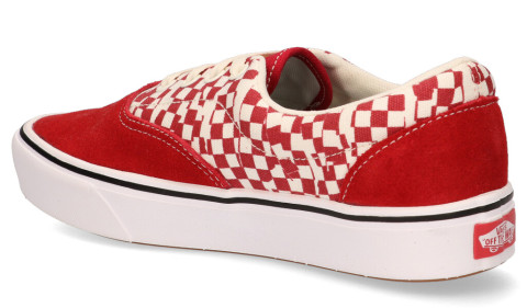 Sneakers - Vans - Tear Check ComfyCush Era Racing Red/True White Damessneakers