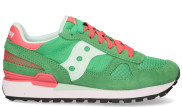 Saucony - Shadow Original Vintage Groen Roze Damessneakers - Dames - Groen Divers