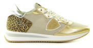 Philippe Model - Tropez X Mondial Leo Goud Damessneakers - Dames - Beige Divers