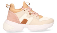 Hogan - Interaction HXW525 Multicolor Damessneakers - Dames - Beige Divers