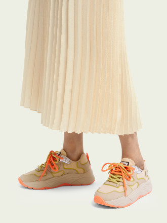 Sneakers - Scotch And Soda - Celest Beige Damessneakers