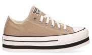 Converse - Everyday Platform CT AS Low Top Khaki White Black Damessneakers - Dames - Naturel