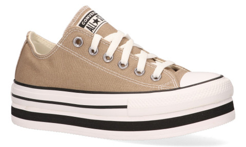 Sneakers - Converse - Everyday Platform CT AS Low Top Khaki/White/Black Damessneakers