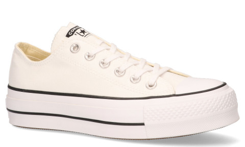 Sneakers - Converse - Platform Canvas CT AS Low Top White/Black/White Damessneakers