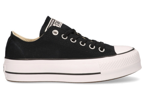 Sneakers - Converse - Platform Canvas CT AS Low Top Black/White/Black Damessneakers