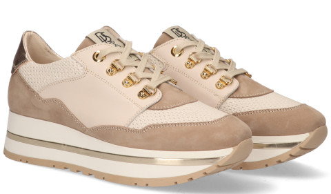 Sneakers - DLSport - 5056 Taupe Damessneakers