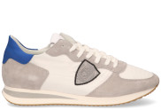 Philippe Model - Tropez X Mondial Wit Blauw Herensneakers - Heren - Wit Blauw