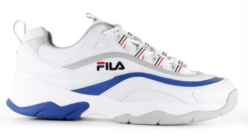FILA Ray Low White/Blue/Violet Herensneakers