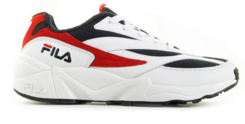 Sneakers - FILA - V94M Low Wit/Donkerblauw/Rood Herensneakers