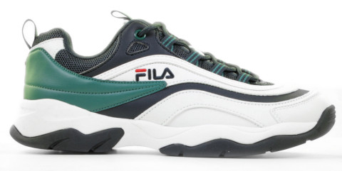 Sneakers - FILA - Ray CB Low Wit/Donkerblauw/Groen Herensneakers