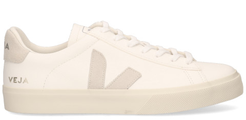 Sneakers - VEJA - Campo Chromefree Leather Wit/Beige Herensneakers