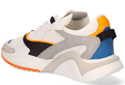 Sneakers - Philippe Model - Eze Mondial Neon Wit/Oranje Herensneakers