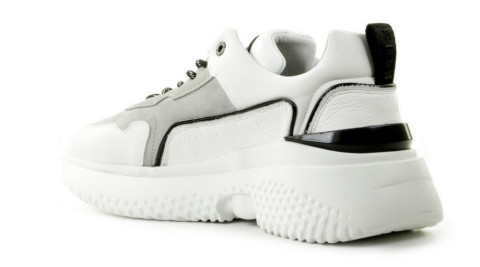 Sneakers - Off The Pitch - Treble Wit/Grijs Herensneakers