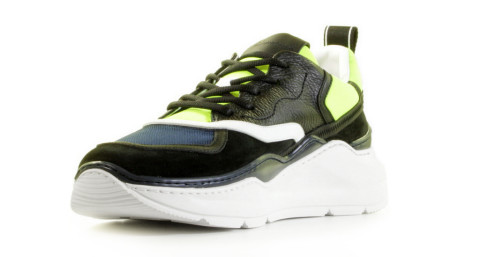 Sneakers - Barracuda - BU3238B Nero/Blu/Fluo Herensneakers