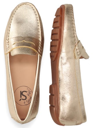 Instappers - Si - Harmiena Goud Damesloafers