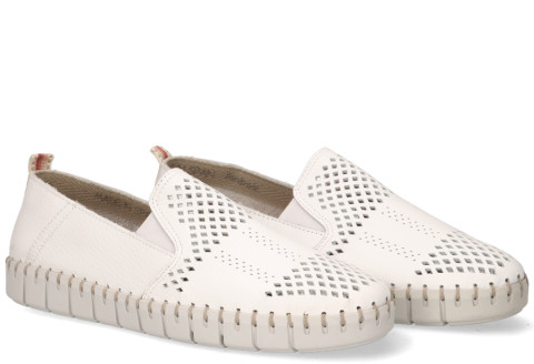 Loafers - Cypres - Maan Wit Damesloafers