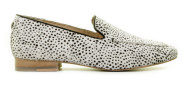 Maruti - Bloom Pixel Off White Black Damesloafers - Dames - Wit Zwart