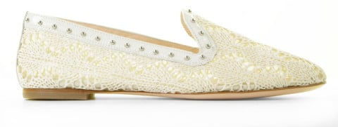Instappers - AGL - D554016PCKS064D788 Off-White/Silver Damesloafers