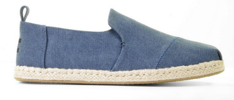 Instappers - Toms - Deconstructed Alpargata 10011623 Blauw Herenloafers