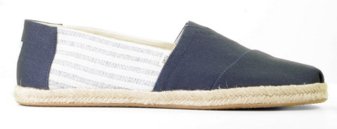 Instappers - Toms - Classic Alpargata 10013553 Blauw Herenloafers