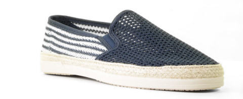 Instappers - Cypres - Kenno-3 Blauw/Wit Herenloafers