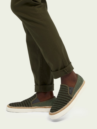 Instappers - Scotch And Soda - Izomi Groen Herenloafers