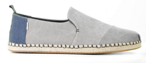 Instappers - Toms - Deconstructed Alpargata Drizzle Grey Herenloafers