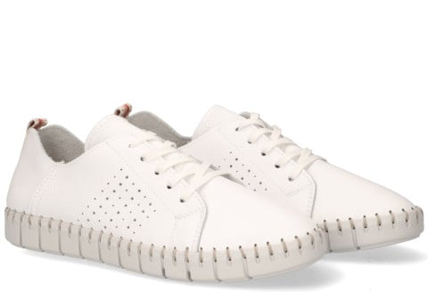 Instappers - Cypres - Mevi Wit Damessneakers