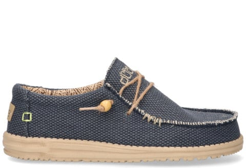 Veterschoenen - Hey Dude - Wally Braided Blauw Herenloafers