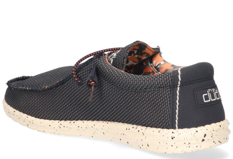 Veterschoenen - Hey Dude - Wally Sox Blauw Herenloafers