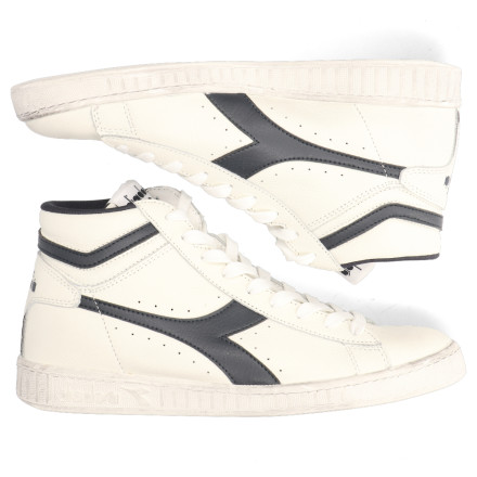 Sneakers - Diadora Sport - Game L High Waxed Wit/Blauw Herensneakers
