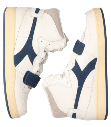 Sneakers - Diadora Sport - Mi Basket Used Wit/Donkerblauw Herensneakers