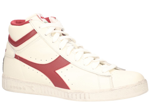 Sneakers - Diadora Sport - Game L High Waxed Wit/Rood Herensneakers