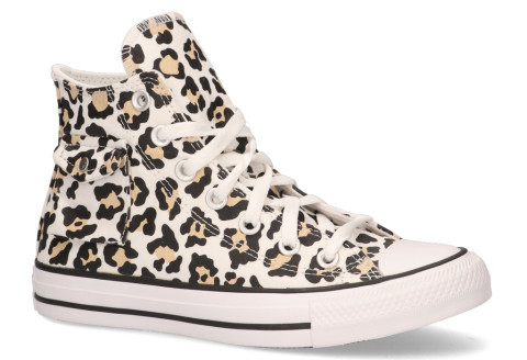 Sneakers - Converse - Pocket Leopard CT AS High Top White/Black/Desert Ore Damessneakers