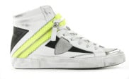 Philippe Model - Bike X HD Veau Neon Blanc Jaune Damessneakers - Dames - Wit Divers