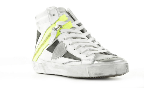 Sneakers - Philippe Model - Bike X HD Wit/Neongeel Damessneakers