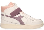 Diadora Sport - Mi Basket Mid Icona Wit Paars Damessneakers - Dames - Wit Divers